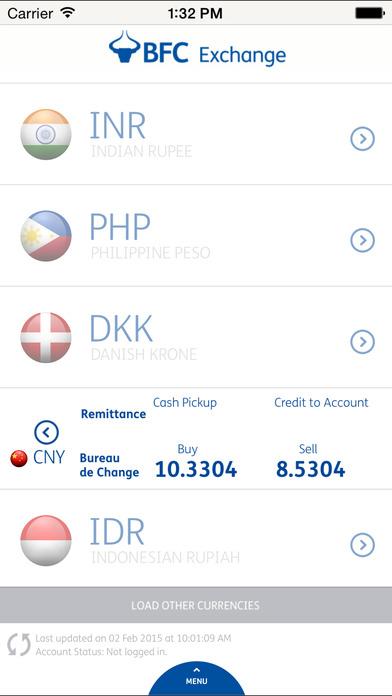 BFC Exchange Currency Converter