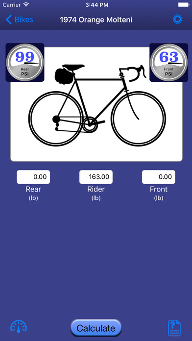 Bicycle Tire Pressure Calculator