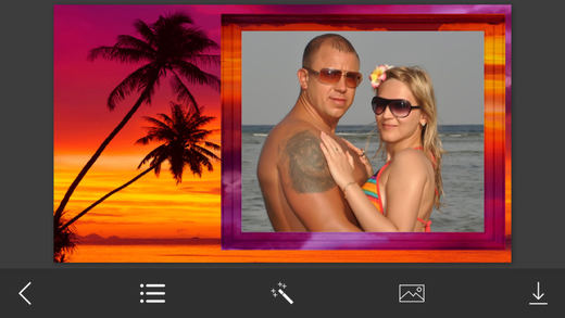 Beach Photo Frame - Free Pic and Photo Filter