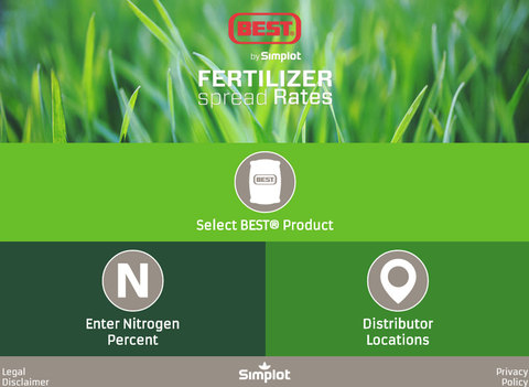 BEST® Fertilizer Spread Rates