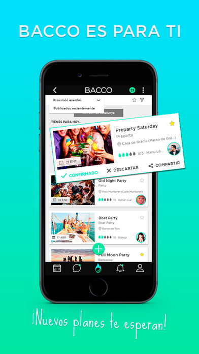 Bacco - Fiesta social de particulares