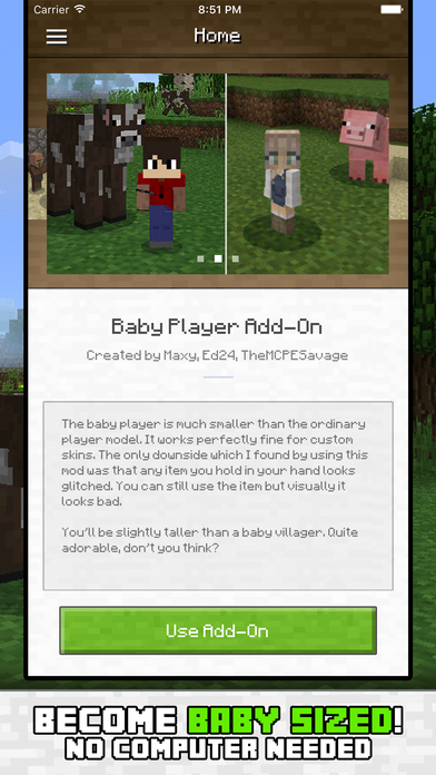 Baby Add On for Minecraft PE