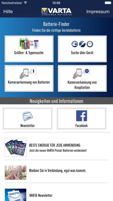 Batterie Finder App