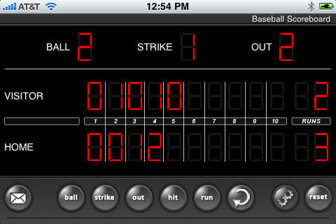 Baseball Game Scoreboard