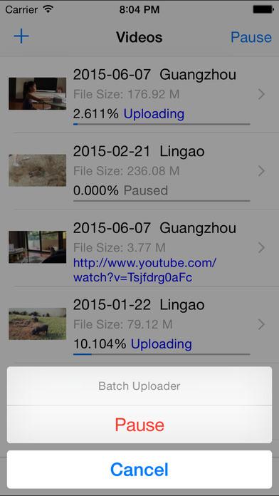 Batch Uploader for Youtube