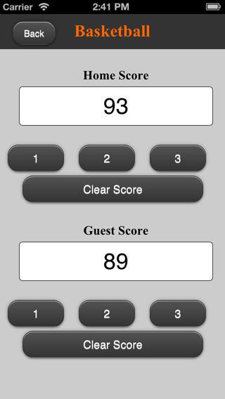Basket Score - ScoreKeeper5000