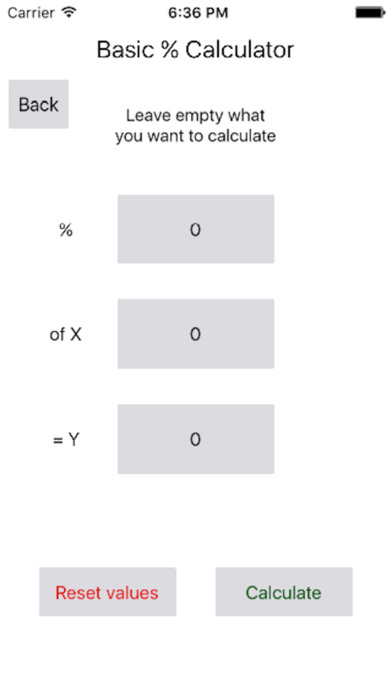 Basic Percent Calculator