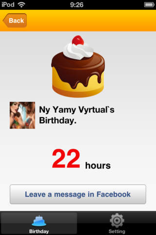 B-day lite for facebook