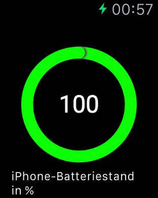 Batteriestand für Watch