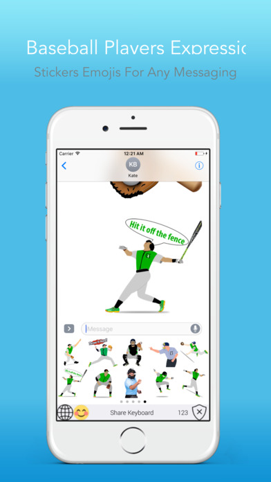 BaseballEMOJI - Custom Keyboard Sports Stickers