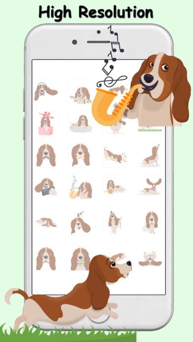 BassetMoji - Basset Hound Emoji  Stickers