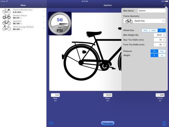 Bicycle Tire Pressure Calculator