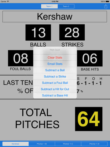 Baseball Pitch Count