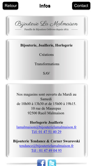 Bijouterie La Malmaison