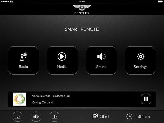 Bentley Smart remote