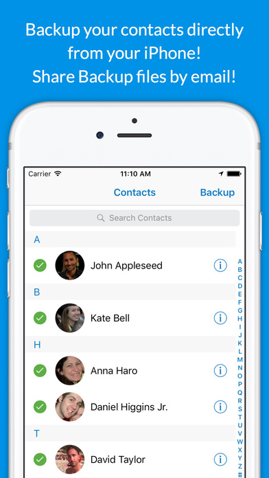 Backup Contacts Plus