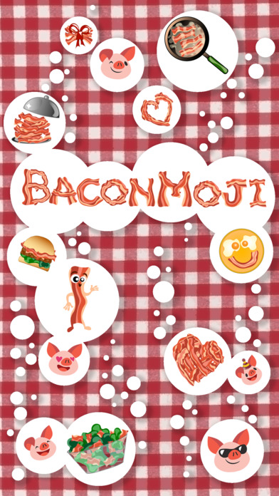 BaconMoji - mouth watering bacon emoji  stickers