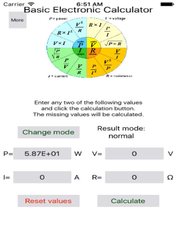 Basic Electronic Calculator
