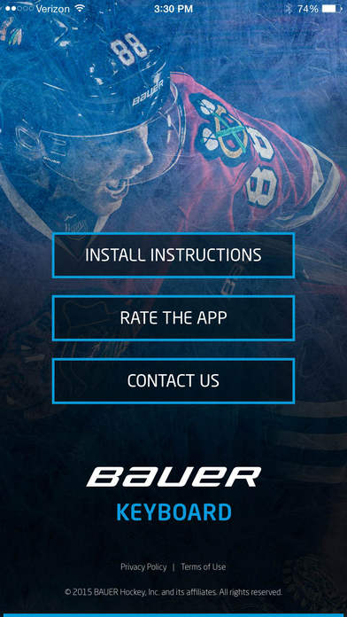 BAUER Hockey Keyboard