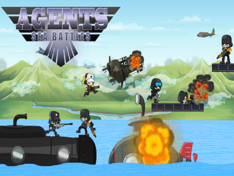 Agents Sea Battles - 潜水至水下生存