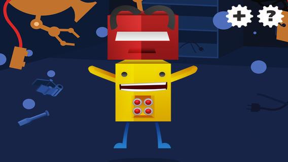 活跃!创建您自己的机器人!游戏和益智儿童与机器人的幼儿园,幼儿园或