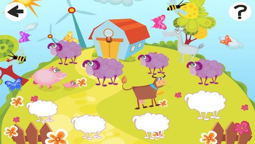 活动! 大小游戏的孩子学习和玩的农场动物
