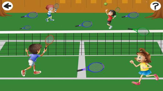 活动! 游戏为孩子们学习和玩网球