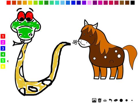 图画书 :动物的孩子 学画画 与许多图片