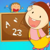 ABC! 学习游戏有关学校在课堂上的孩子 1