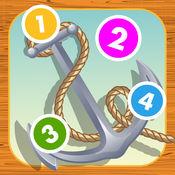 的计数儿童游戏与帆船:学会数数1-10 1