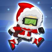 圣诞节快乐 在雪...