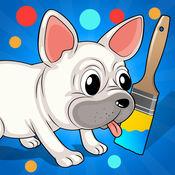 活跃! 图画书 动物儿童:有很多图片喜欢猫,狗,鱼,猪,鸟和鹦鹉 1