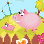 活跃的儿童游戏2-5岁左右的农场的动物: 学习 幼儿园,学前班