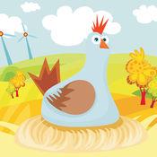 活跃的儿童游戏2-5岁左右的农场的动物