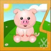拼图学英语动物版——儿童学英语最佳超萌可爱动物园游戏! 2