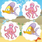 动画备忘录游戏免费儿童:了解多彩的海洋生物与乐趣 1
