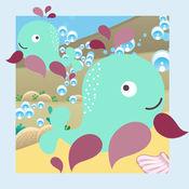 动物世界在一个美妙的动画孩子玩与学习游戏免费海中 1
