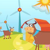 活动! 大小游戏的孩子学习和玩的农场动物 1