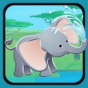 活动! 大小的游戏让孩子们学习,并与丛林动物玩 1