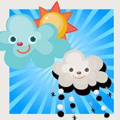 动画婴儿及儿童游戏,了解天气在儿童仁一个应用程序的第一步