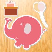 宝宝木制拼图:在爬行阶段的幼儿游戏!免费学习动物 1