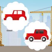 动画童装及婴儿游戏与疯狂的汽车和汽车免费:现货在图片的误