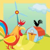 动画儿童游戏:许多农场动物宝宝益智于一体的应用 1