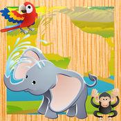 动画动物拼图对于婴儿和儿童! 1