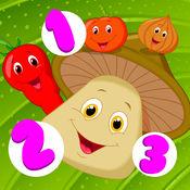 主动! 游戏儿童学习计数,以1-10与蔬菜 1