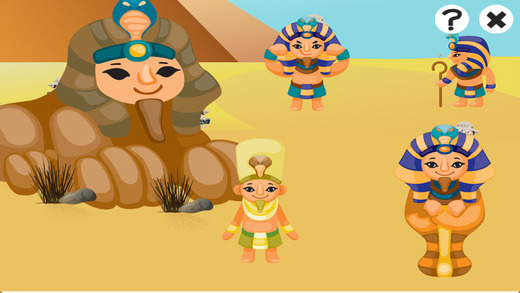 跃 学习游戏古埃及儿童 学习和娱乐与木乃伊,法老和金字塔电脑版 图片