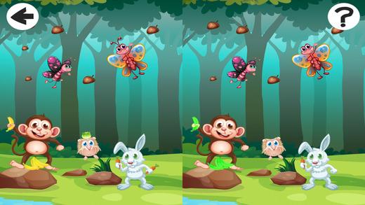 活动! 学习游戏对儿童的森林动物的发挥,