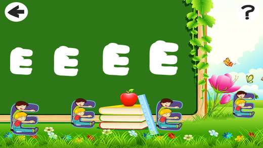 活动! 大小的游戏让孩子们学习,并与字母玩