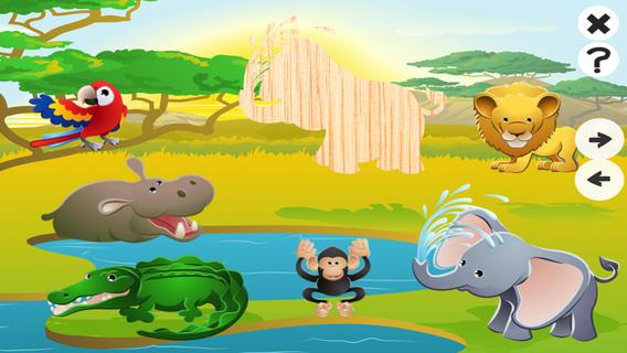 动画动物拼图对於婴儿和幼儿免费儿童游戏:学习与