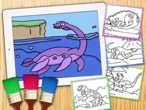 恐龙动物侏罗纪公园儿童画画游戏3到6岁宝宝